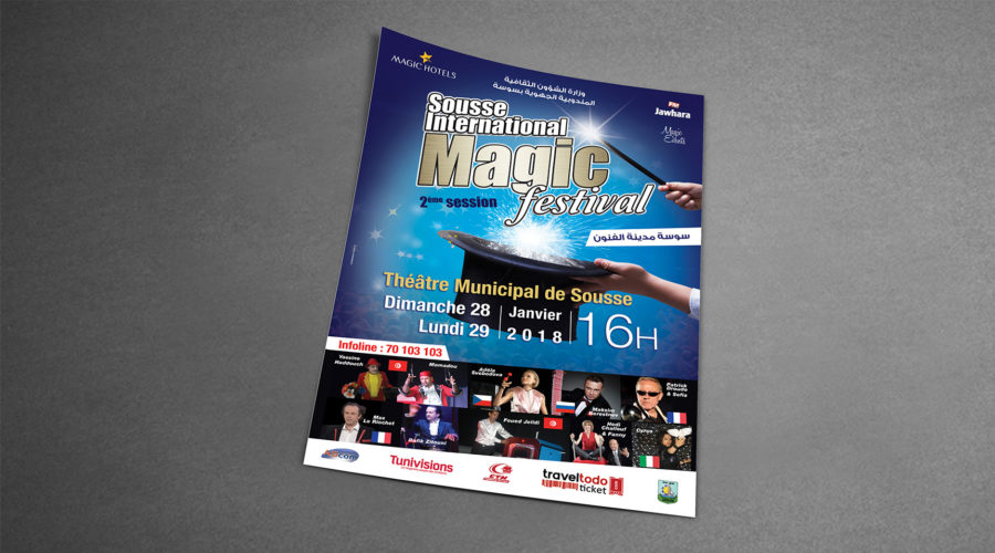 Affiche Sousse international magic festival